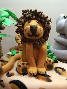 Löwe Safari Torte Fondant