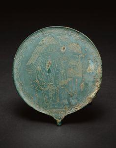 Etruscan, probably Vulci  Hand Mirror, 470-450 B.C