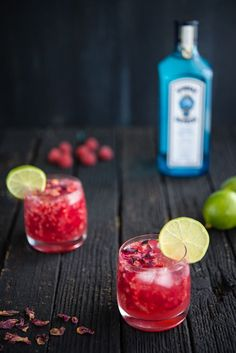 Raspberry Rose Gin and Tonic | Rosewater is absolutely divine with fresh raspberries, too. One sip of this cocktail and I'm instantly in the mood for fun and frivolity.
