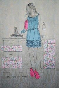 'It's not my mess' by textile artist Caroline Kirton