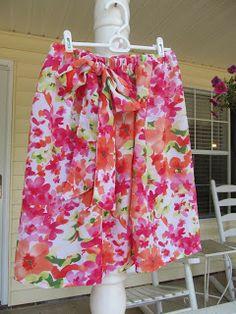 Grits & Giggles: Mini Tutorial- Easy Skirt
