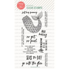 Ellen Hutson LLC - Essentials by Ellen Clear Stamps, Mermaid's Tail by Julie Ebersole, $18.00 (https://www.ellenhutson.com/essentials-by-ellen-clear-stamps-mermaids-tail-by-julie-ebersole/)