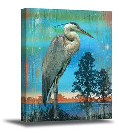 Gallery+Wrap+Giclee+On+Canvas+[7560HERONBLANK-C]+-+$149.00+:+My+Town+Art,+The+Art+of+Patrick+Reid+O'Brien