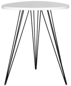 Marcella Lacquer Side Table - White and Black - Safavieh - $158 - domino.com