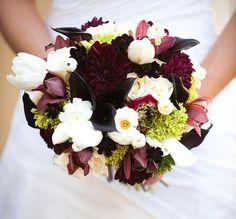 Pretty. I like the dark and light. Bridal Bouquet November Wedding 2010 | Yelp