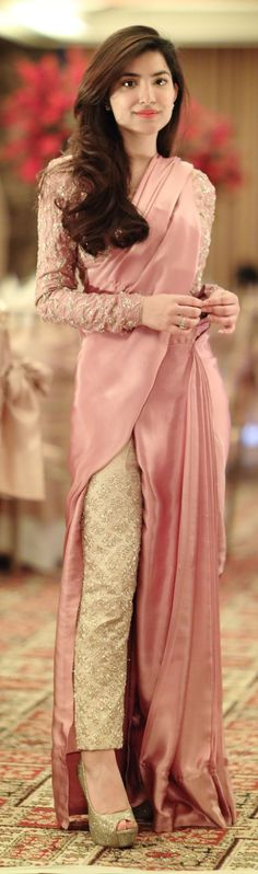 40 Evening Wear Saree Ideas & Inspiration is part of Saree draping styles - Latest trends in Beauty, Fashion, Indian outfit ideas, Wedding style on your mind We have something for you! Chiffon Saree, Saree Dress, Dress Up, Dhoti Saree, Kurti, Pakistani Dresses, Indian Dresses, Indian Outfits, Saree Draping Styles