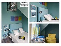 Женя Жданова -Голубая спальня - Использование пяти цветов
