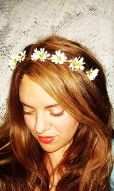 Flower Crown, Headband- WILDFLOWER, Halo Headband, Accessories, Flower Headband, Crown Headband, Daisy Flower, White flower