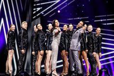 Petra Mede y Måns Zelmerlöw, presentadores de Eurovisión 2016 Medan, Petra, Eurovision Songs, Concert, My Love, People, Dress, Gowns, Recital