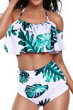 Heat Move Women Retro Flounce High Waisted Bikini Halter Neck Two Piece Swimsuit High Waisted Bathing Suits bikini Flounce Halter Heat High Move Neck Piece retro swimsuit Waisted Women Bathing Suits For Teens, Summer Bathing Suits, Swimsuits For Teens, Cute Bathing Suits, Two Piece Swimsuits, Women Swimsuits, Toddler Swimsuits, Swim Suits For Curves, Cheap Swimsuits