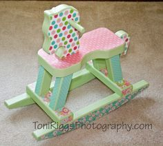DIY Rocking Horse - you could do this with all sorts of things - step stools, chairs, end tables, etc!
