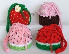 PDF Crochet Pattern Felted Puff Bag por KikisCrochet en Etsy