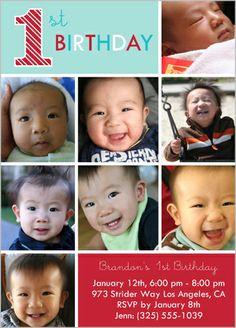 1st birthday party invitation by Petite Lemon