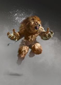 "cyrail: ""artissimo: "" lion fighter by yakun wang Sparrow Volume 8: Glenn Barr "" Featured on Cyrail: Inspiring artworks that make your day better """