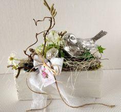 """Osterdeko - Deko """"Vogel im Nest"""" - ein Designerstück von gittirai bei DaWanda"""