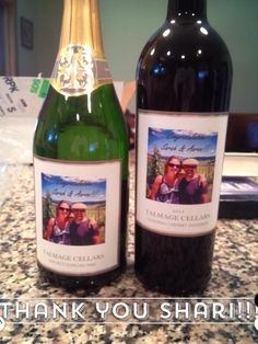 The perfect engagement gift! Custom wine with the newly engaged couples picture in one of our duet boxes.