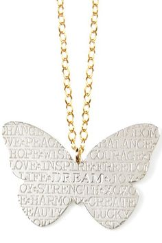 Inspirational Butterfly Pendant Necklace.