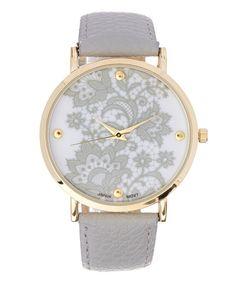 Loving this Gray & Goldtone Bracelet Watch on #zulily! #zulilyfinds