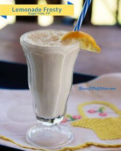 Sweet, creamy Lemonade Frosty (Sugar free, Low Carb and Low Fat) FP