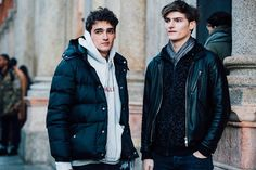 Fashion Week homme Street looks Milan automne hiver 2016 2017 31