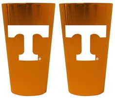 Tennessee Volunteers Lusterware Pint Glass - Set of 2