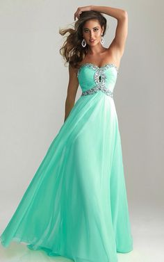 Cute mint long dress