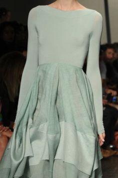 mint long sleeved dress