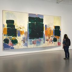 "#JoanMitchell's ""Field for Skyes"" (1973), on view in #HirshhornMasterworks! ✨ #artwatchers"