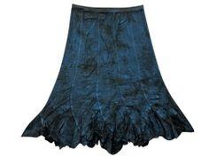 Gypsy Boho Skirt Blue Patch Ari Embroidered Stonewashed Rayon Maxi Long Skirt #mogulinteriordesigns @ http://www.amazon.com/dp/B00JJH71YI