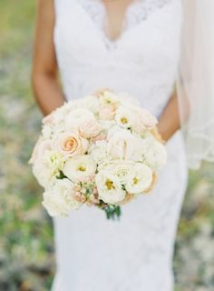 #ranunculus, #rose  Photography: Bryce Covey Photography - brycecoveyphotography.com Floral Design: Evans King Floral - evanskingfloral.com/  Read More: http://www.stylemepretty.com/2013/04/03/pennsylvania-wedding-from-bryce-covey-photography/