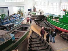 La partie exposition du chantier naval Ontziola