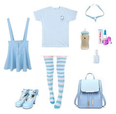 """Baby blue"" by barnowlkitten on Polyvore featuring Essie, Blue, babyblue and ddlg"