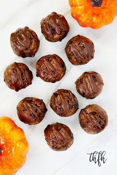 Gluten-Free Vegan Chocolate Chip Pumpkin Spice Bliss Balls...a no-bake recipe that's raw, vegan, gluten-free, dairy-free, egg-free, paleo and no refined sugar