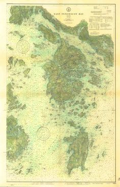 Part of the United States Coast and Geodetic Survey. I added color to emphasize the topography. Then scanned the hand colored original to make this archival reproduction  www.galeyrie.com/?s=East Penobscot
