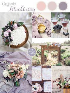 Rustic Summer Blackberry Wedding Ideas with Fresh Fruit