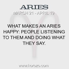 Fact about Aries: What makes an Aries happy: people listening to them and... #aries, #ariesfact, #zodiac. More info here: https://www.horozo.com/blog/what-makes-an-aries-happy-people-listening-to-them-and/ Astrology dating site: https://www.horozo.com
