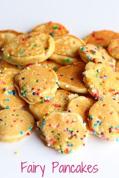 Fairy Pancakes. These tiny pancakes are sure to be a hit with the fairy lovers in your family!