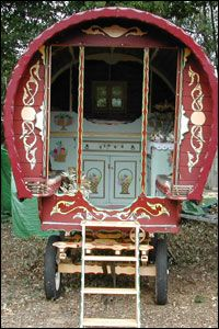 Henry Stanford collects and restores old Gypsy caravans. He and his wife Paula have opened a new visitor centre at their home in Cranbrook, Kent. in England, to display these colourful pieces of Romany history. They also demonstrate Gyspy crafts and cook tasty food.