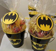 Batman Black & Yellow Favor Tags Set of 12 by DistinctDesignsByAmy, $10.00