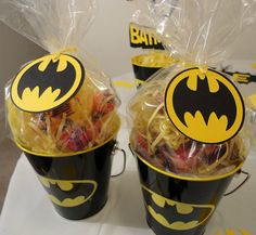 Batman Black & Yellow Favor Tags Set of 12 by DistinctDesignsByAmy, $10.00