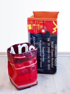 Paperbag Papierkörbe aus recycelten #Werbeplanen - damit tun Sie der #Umwelt gut!