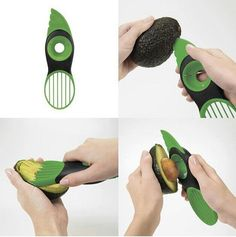 Creative Gadgets 3 in 1 Avocado Slicer Shea Butter Knife Flesh Separation Peeling Knife Kitchen Accessories Cooking Tools Cooking Gadgets, Gadgets And Gizmos, Cooking Tools, Cooking Ideas, Electronics Gadgets, Tech Gadgets, Cool Kitchen Gadgets, Cool Gadgets, Cool Kitchens