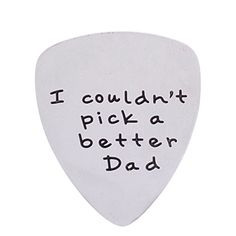 I Couldnt Pick a Better Dad Mens Stainless Steel Guitar Pick Gift for Daddy Papa Father *** Click image for more details.Note:It is affiliate link to Amazon.
