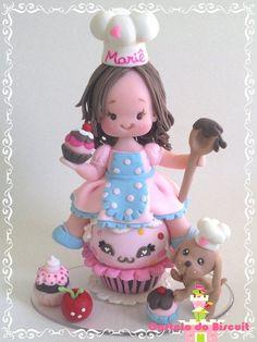 Menina Cupcake http://www.elo7.com.br/topo-de-bolo-menina-cupcake/dp/4714CD