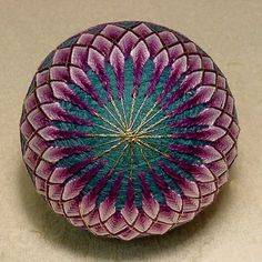 Japanese Temari Ball Chrysanthemum by BethsTemariBalls