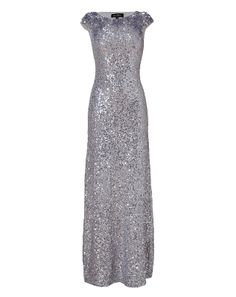 Viewer Jenny Packham Light Slate Allover Sequined Gown $3080, now ON SALE $1848 @STYLEBOP.com.com