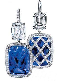 Harry Winston cabochon saphhire and diamond save by Antonella B. Rossi