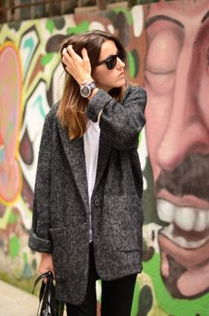 Love this oversized Knit Blazer.