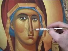 Byzantine Iconography School Religious Images, Religious Icons, Religious Art, Byzantine Icons, Byzantine Art, Writing Icon, Greek Icons, Fortune Cards, Artist Workshop