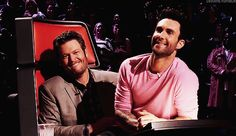 Every single time that Adam sat in Blake's lap. | 20 Of Adam Levine And Blake Shelton's Most Bromantic Moments